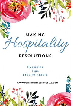 Making Hospitality New Years Resolutions - Examples, Tips and a Free Printable from Behind the Scenes Belle. Turquoise Table, Christian Homemaking, Spiritual Disciplines, Christian Families, Making Life Easier, Easy Entertaining, Southern Hospitality, Fundraising Events, Event Planning