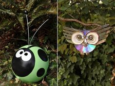 26 garden junk ideas - How to create unique garden art from junk- cute idea with bowling ball