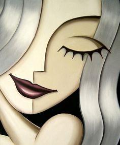 Artwork by Calgary artist, oil painter Jeff Lyons. Playful female portraits, strange surrealism, pop abstract art oil paintings, art prints and merchandise Abstract Face Art, Oil Painters, Arte Pop, Portrait Art, Female Portrait, Abstract Portrait, Figurative Art, Female Art, Art Drawings