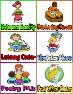 literacy work stations from Serenade to Second Grade blog