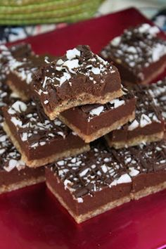 Raw Chewy Chocolate Squares from Sweetly Raw. #vegan