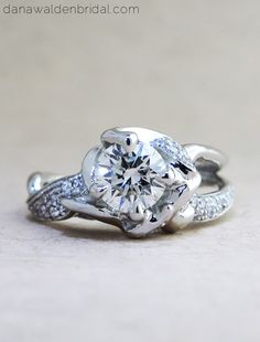 Violette Custom Diamond Engagement Ring - Unique, Avant-Garde & Sculptural – Dana Walden Bridal :: Engagement Ring Designers - NYC