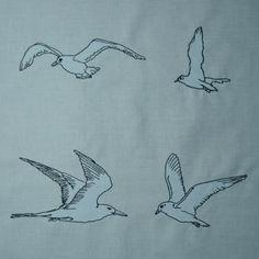 Möwen Vögel Stickdateien auf www.gabrielles-embroidery.com
