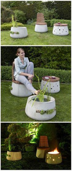 Beautiful Concrete Garden Furniture