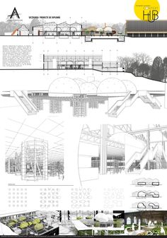 Reconversie Wolff - Laura Dumitrescu Planer Layout, Architectural Presentation, Landscape Architecture, Competition, Landscaping, Floor Plans, Sketch, Concept, How To Plan
