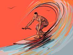 - Surfboard Drawing, Surfboard Art, Ride Captain Ride, Drawing Sketches, Art Drawings, Remo, Tropical Art, Surf Art, Beach Art
