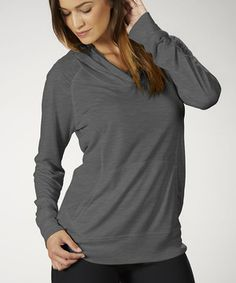 Loving this Heather Charcoal Hooded Top - Women on #zulily!