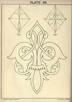 see site for many more - 1895 - Cusack's freehand ornament. A text book with chapters on elements, principles, and methods of freehand drawing, for the general use of teachers and students . by Armstrong, Charles Mehr Islamic Art Pattern, Pattern Art, Pattern Design, Stencil Patterns, Painting Patterns, Zentangle, Diy Planner, Molduras Vintage, Stencils