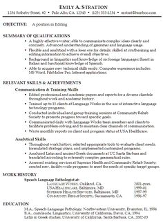 Language Skills Resume Sample Functional Resume Example For Editing   Susan  Ireland