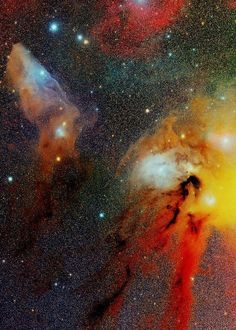 IC 4592: reflection nebula in the Scorpius constellation that is lit by Nu Scorpii.