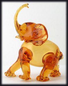 Vintage 1940s Murano Art Glass Elephant