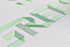 Duduá: Monográfico de tipografía bordada para diseñadores e ilustradores