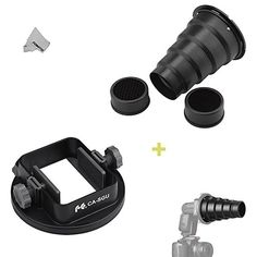 Fomito Flash Snoot & Universal Adapter Mount for Canon Ni...