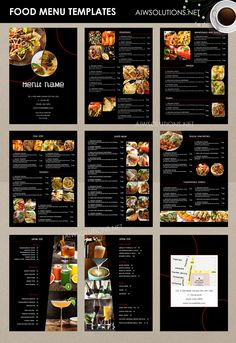A visually enticing menu can be simply as appealing as the food it offers. Style Wizard has both detailed and easy menu templates to lure your custome. Design Menu Pizza, Cafe Menu Design, Menu Card Design, Food Menu Design, Stationery Design, Menu Fast Food, Thai Food Menu, Food Truck Menu, Food Menu Template