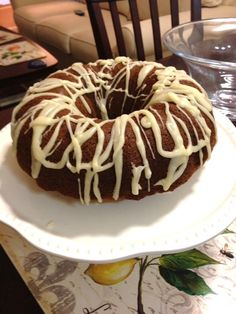 Brown Butter Pumpkin Bundt Cake with Sugar and Bourbon Drizzle