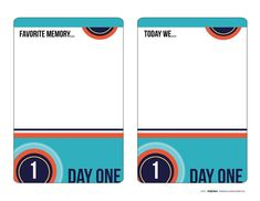 Printable -- Travel Journal Cards [Title Page, Intro Page, and Days 1 through 7 available for download.]