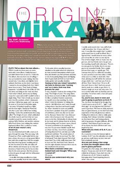 """""""The Origin Of Mika"""" - QX magazine - English - October 2012 - page 1 of 2"""