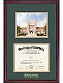 Washington University 8.5'' x 11'' Classic Diploma Frame