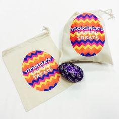 Easter is coming! Personalised sacks for your eggs at #jual #personalisedgifts #personalisedbags #easter  £4.99 contact olivia@jual.co.uk for more details ❤️