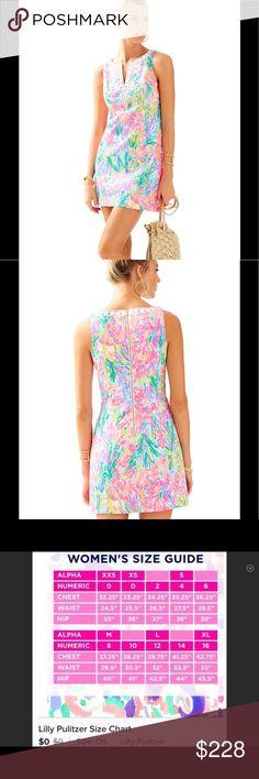 🐟Lilly Pulitzer Dress 14 Gabby Fan Sea Pants🐠 🐟NWT Lilly Pulitzer Dress Shift 14 Gabby Fan Sea Pants🐠 Lilly Pulitzer Dresses Mini