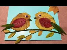 Autumn Leaves Craft, Autumn Crafts, Easy Christmas Crafts, Leaf Crafts, Bird Crafts, Nature Crafts, Preschool Arts And Crafts, Kindergarten Art Projects, Dry Leaf Art