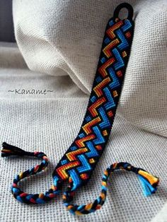 Macrame bracelet Fire and water Thread Bracelets, Embroidery Bracelets, Macrame Bracelets, Ankle Bracelets, Diy Embroidery, Crochet Bracelet, Bracelet Crafts, Estilo Hippie, Diy Friendship Bracelets Patterns