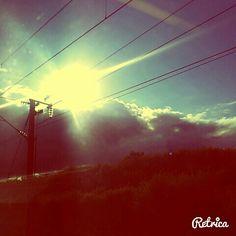 Coucher de soleil depuis le tgv