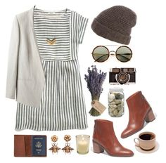 """""""Neutral"""" by simple-and-light ❤ liked on Polyvore featuring Madewell, Wildfox, Helmut Lang, Inverni, TOMS and Olive"""