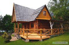 Drewniane trzy domki nad jeziorem +apartamenty z własną plażą