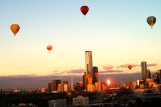 Early morning flight over #Melbourne.