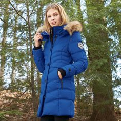 Noize® Women's Quilted Full-Length Parka #SEARSBACK2CAMPUS