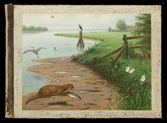 Otter, Raccoon and Crane I Schoolplaat Koekkoek