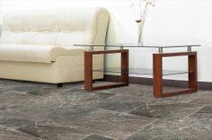 BuildDirect – Italian Ceramic Tile - Clay Impressions Series – Prisma Dark - Living Room View