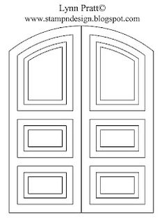 Download template for double door:  http://www.mediafire.com/?7wlj77640ejo31t  Stamp-n-Design: Double Door Decorated for Christmas