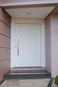 Porta pivotante com pintura de laca P.U branco acetinado