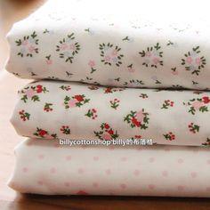 SALE)w425 - scrap bundle - double gauze fabric - floral - 3 pieces x ( 45cm x 47cm ) by billycottonshop0413 on Etsy
