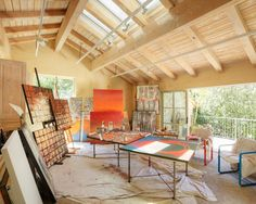 Art Studio Design Ideas art and craft workplace by camilla engman Spaces Art Studio Design Pictures Remodel Decor