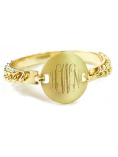 Chain Monogram Bangle (gold)...I'm in LOVE with this I really want it.
