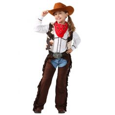 Let your child be the sharpest shooter in the west with this exclusive Child Cowgirl Chaps Costume. Cowgirl Chaps, Traje Cowgirl, Cowgirl Look, Girls Cowgirl Costume, Cowgirl Outfits, Girl Costumes, Cosplay Costumes, Fun Costumes, Halloween Costumes For Teens