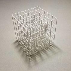 キューブ 几帳面者のペンスタンド 25本のペンや 鉛筆が垂直に立つように整列させることができるペンホルダー