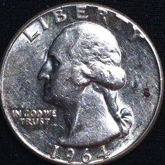 1964 WASHINGTON QUARTER 90% SILVER 'OLD US COIN'