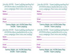 avon bookmark order forms - Google Search … | Pinteres…