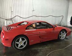 Hand Car Wash on a Ferrari F355 Berlinetta