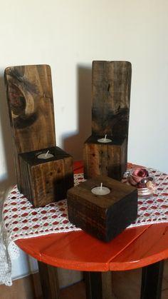 Porta velas rústico, $100 en https://ofeliafeliz.com.ar