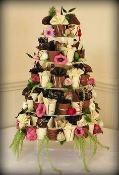 Wedding cupcake display ideas cupcake display ideas cool cupcake display wedding ideas cakes and cupcakes cupcake Cupcake Stand Wedding, Wedding Cupcakes, Cupcake Stands, Cupcake Tier, Cupcake Cakes, Amazing Wedding Cakes, Amazing Cakes, Pretty Cakes, Beautiful Cakes