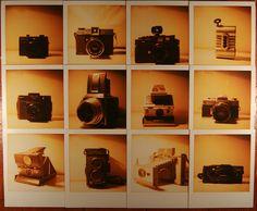 Polaroid Photos of Cameras