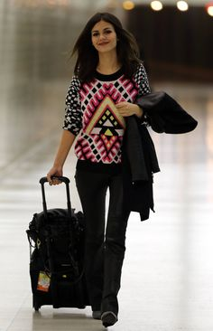 Victoria Justice, At the LAX, January 9, 2015