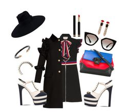 """""""Spikes and stripes"""" by alethea-leondakis on Polyvore featuring Gucci, Versace, Prada, Mawi and Vita Fede"""