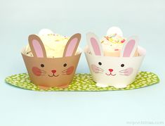 Free Printable: bunny cupcake wrappers