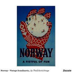 Norway ~ Vintage Scandinavian Travel Ad